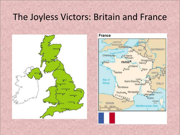 the joyless victors britain and france n.