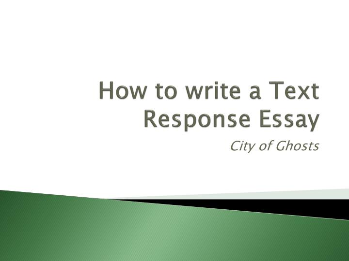 how to write a text response essay n.