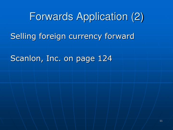 Forwards Application (2)