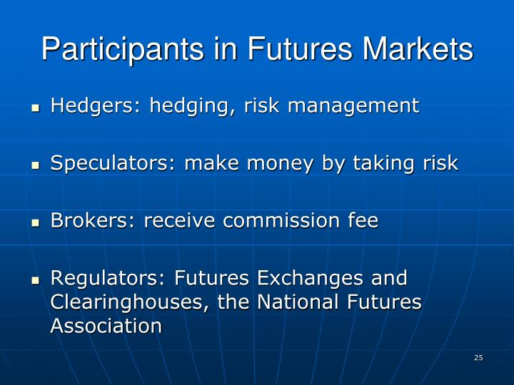 Participants in Futures Markets