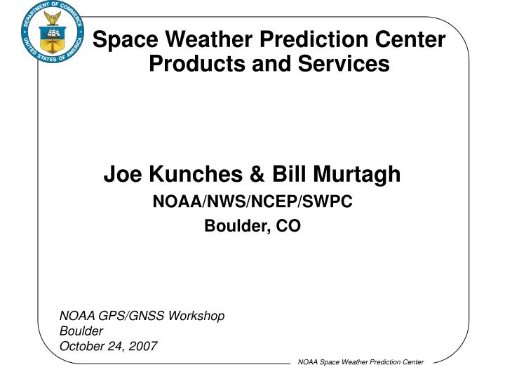 space weather prediction center products and services n.