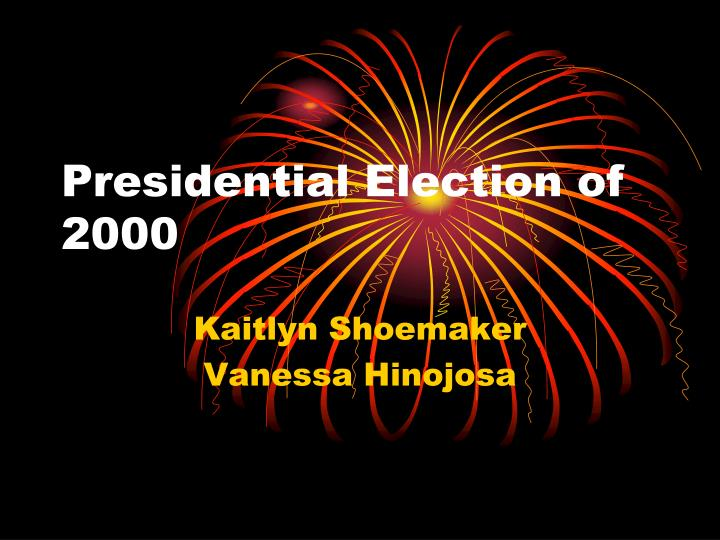 presidential election of 2000 n.