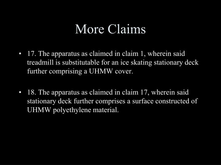 More Claims