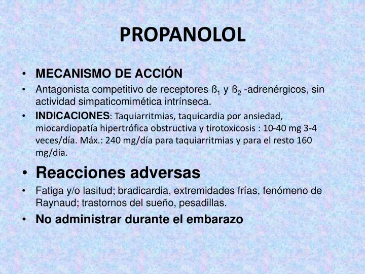 PROPANOLOL