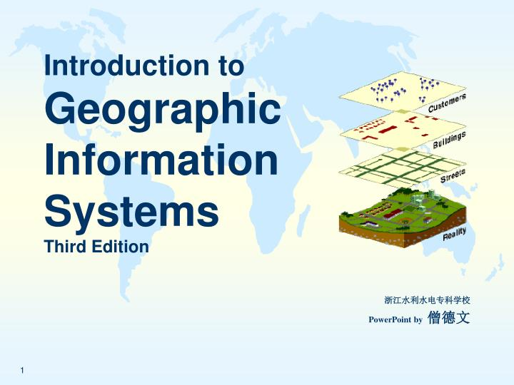 introduction to geographic information systems third edition n.