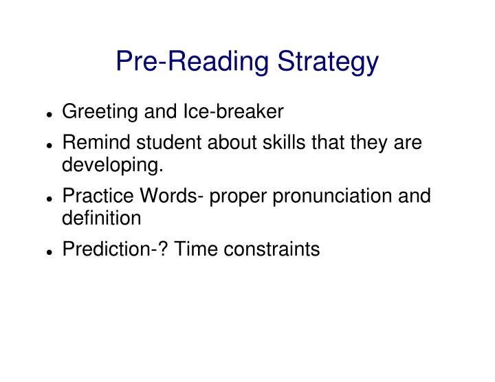 Pre-Reading Strategy