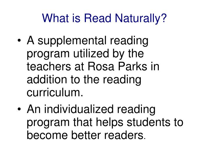 What is Read Naturally?