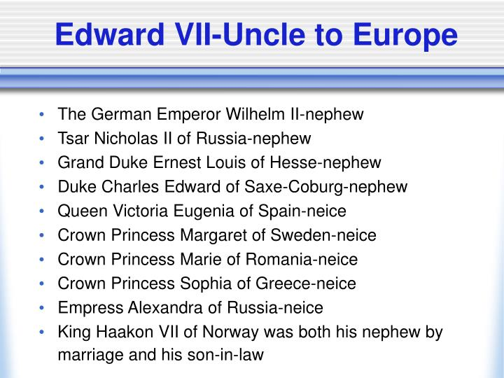 Edward VII-Uncle to Europe