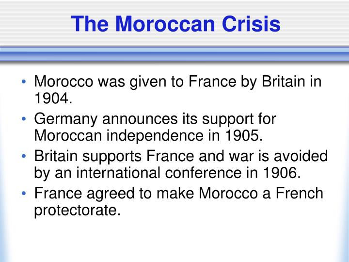 The Moroccan Crisis
