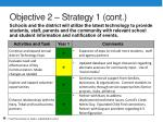 objective 2 strategy 1 cont