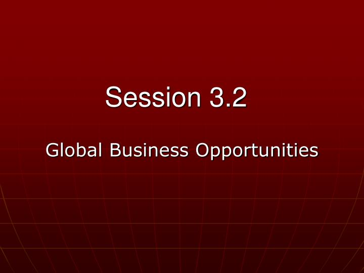 global business opportunities n.
