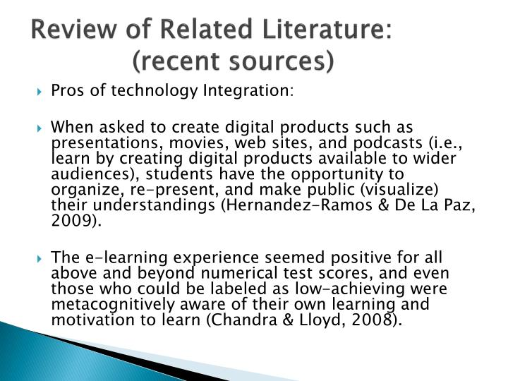 Review of Related Literature: