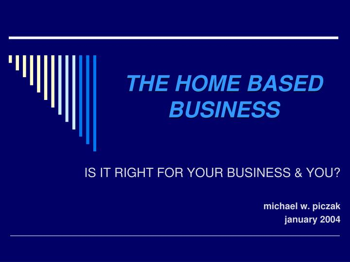 the home based business n.