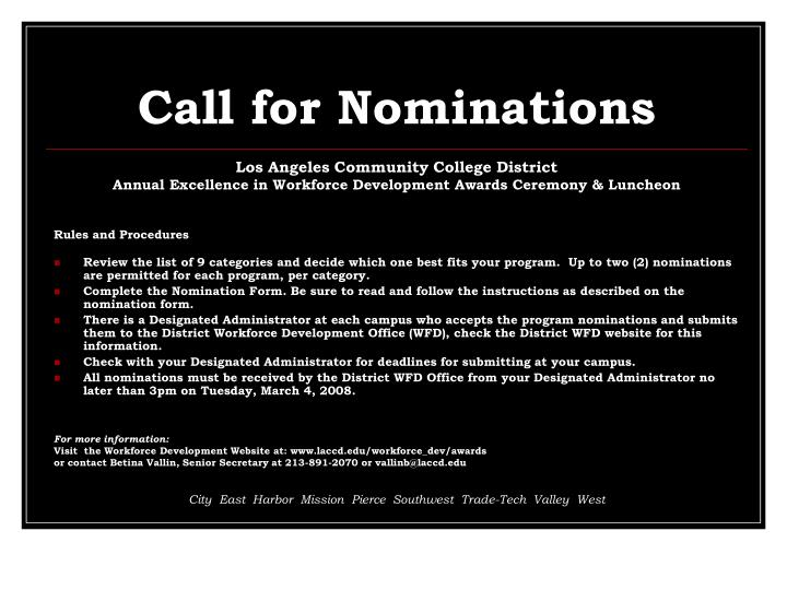 Ppt call for nominations powerpoint presentation id5446795 call for nominations toneelgroepblik Image collections