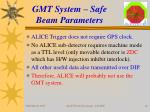 gmt system safe beam parameters