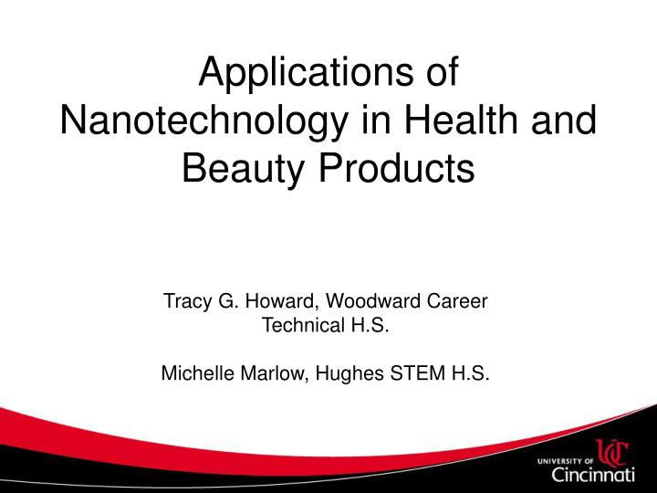 applications of nanotechnology in health and beauty products n.