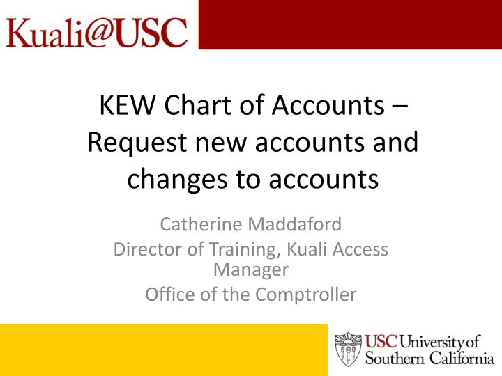 kew chart of accounts request new accounts and changes to accounts n.