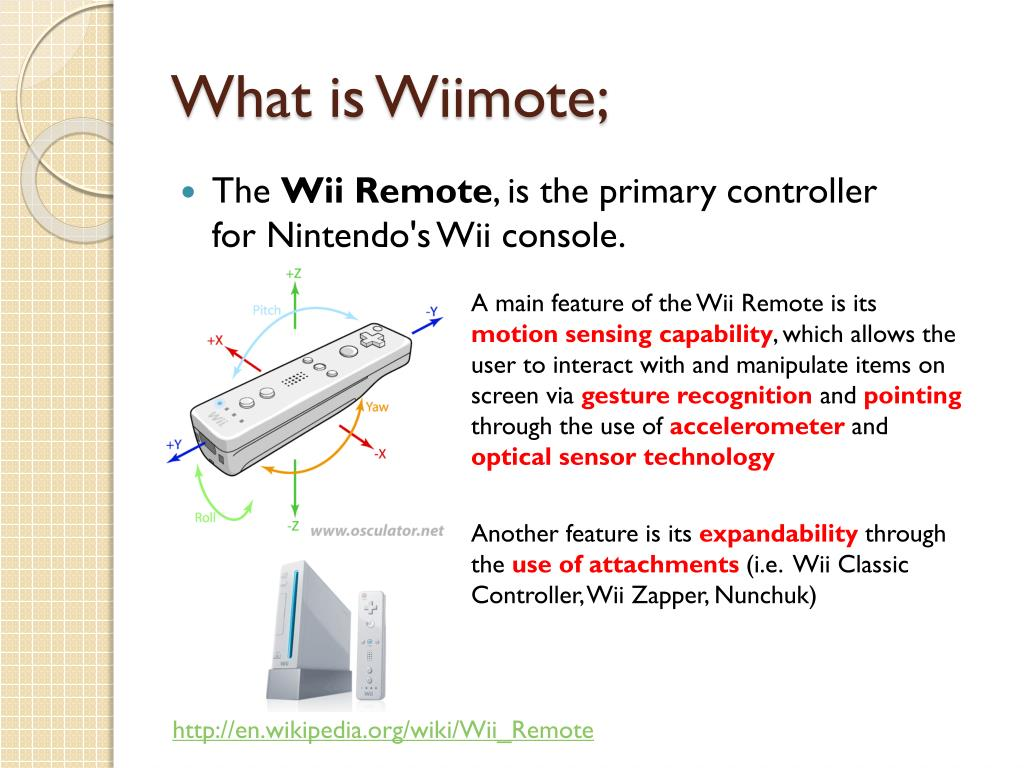 PPT - Wiimote in Physics Education PowerPoint Presentation - ID:5446863