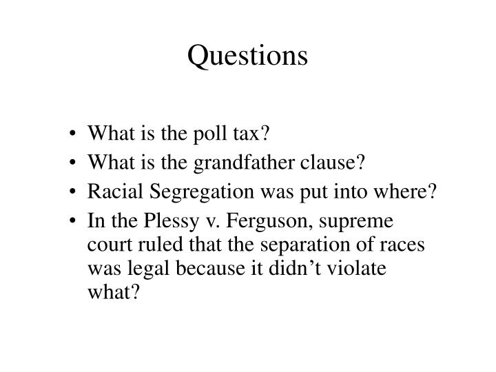 What is the poll tax?