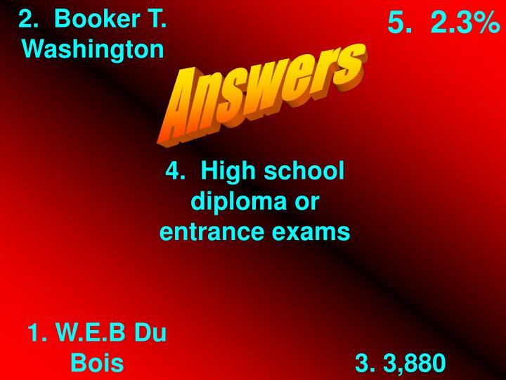 2.  Booker T. Washington