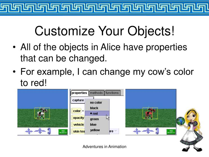 Customize Your Objects!