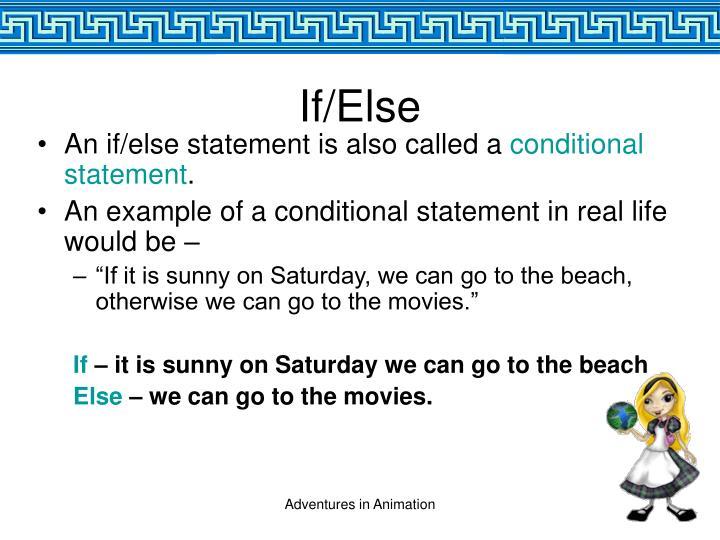 If/Else