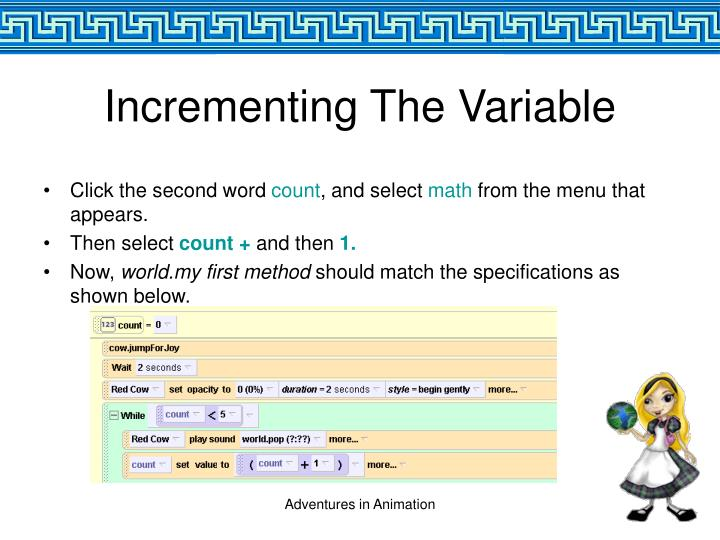 Incrementing The Variable