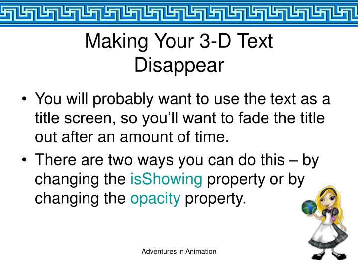 Making Your 3-D Text
