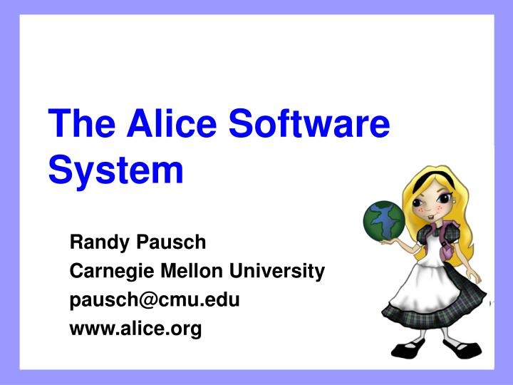 the alice software system n.
