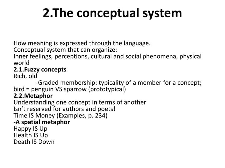 conceptual meaning examples