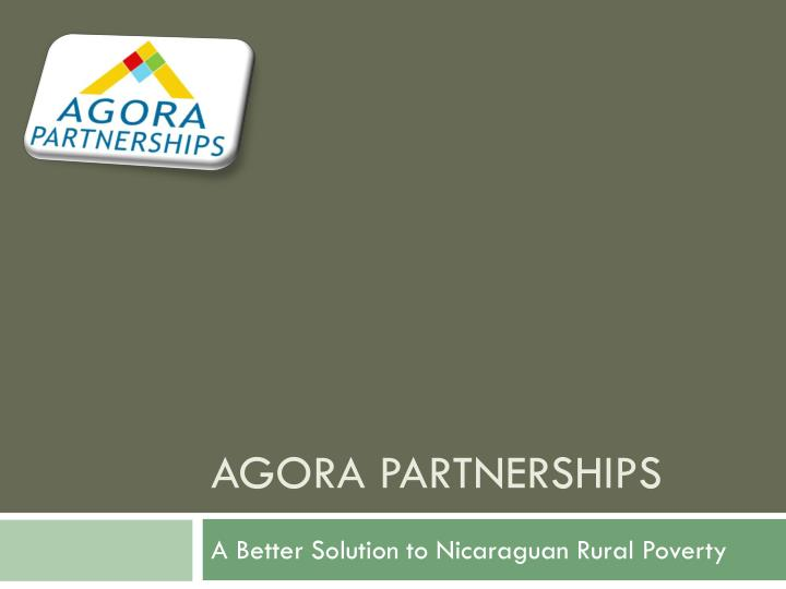 agora partnerships n.