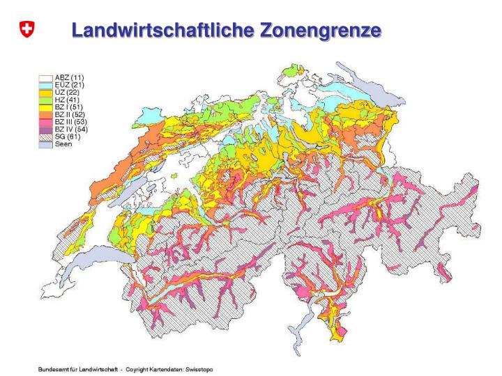 Landwirtschaftliche Zonengrenze