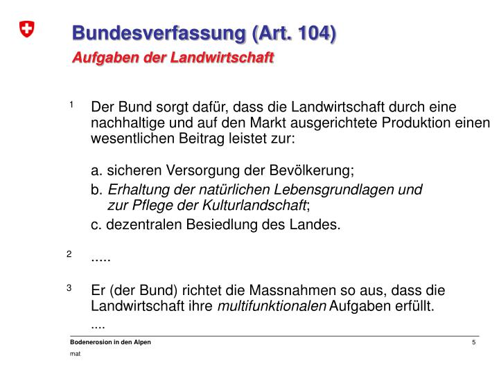 Bundesverfassung (Art. 104)