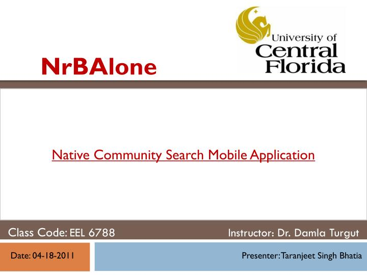 native community search mobile application n.
