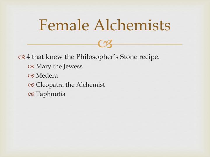 Female Alchemists