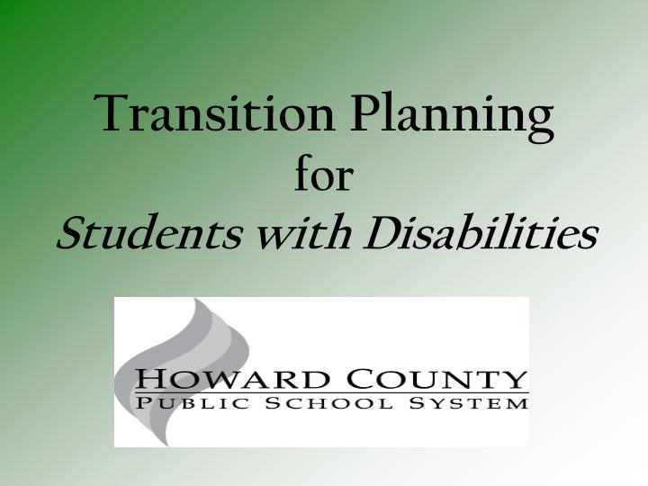 transition planning for students with disabilities n.