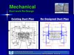 mechanical duct work re design