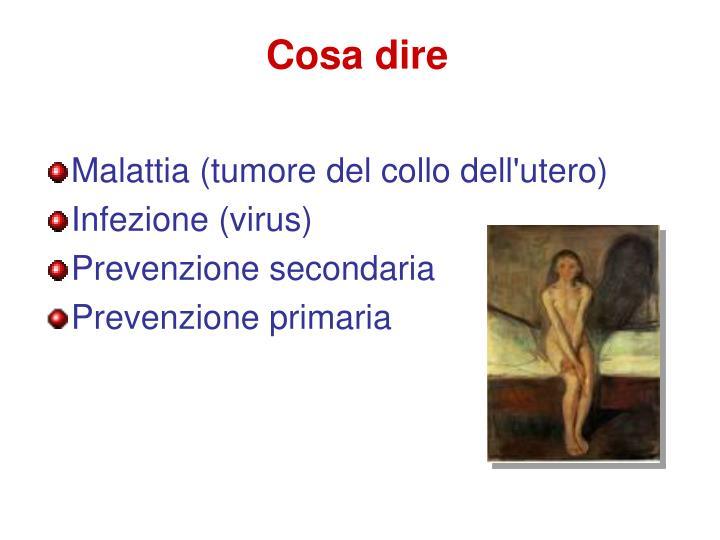 Malattia (tumore del collo dell'utero)