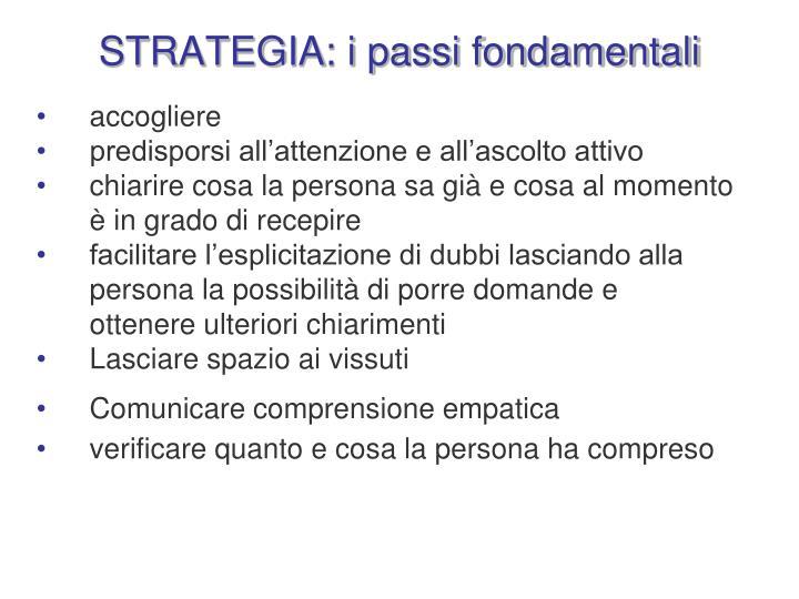 STRATEGIA: i passi fondamentali