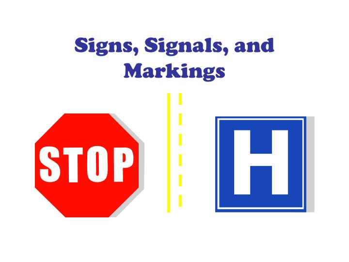 signs signals and markings n.