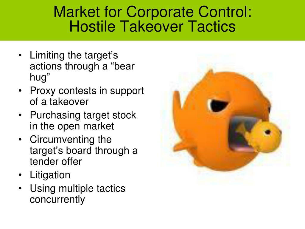 PPT - The Corporate Takeover Market PowerPoint Presentation