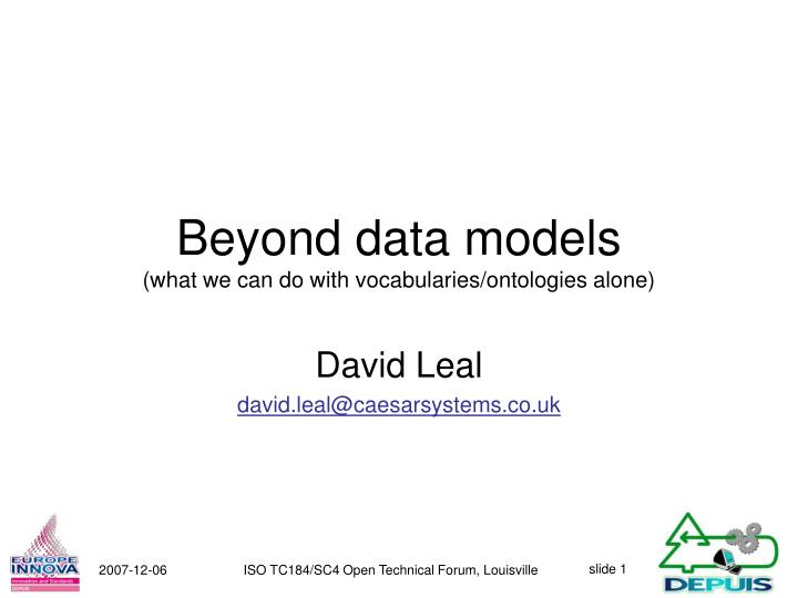 beyond data models what we can do with vocabularies ontologies alone n.