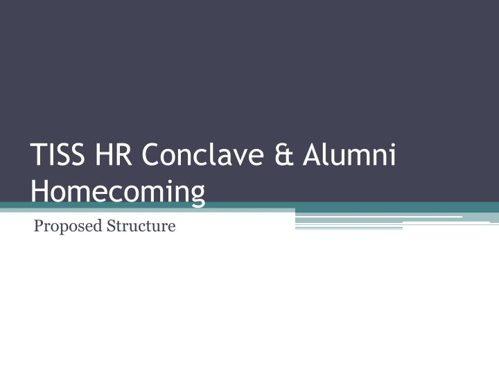 tiss hr conclave alumni homecoming n.