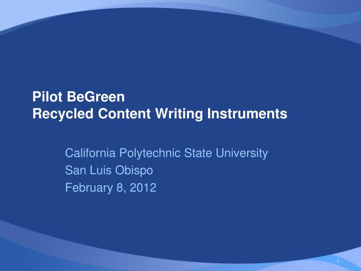 pilot begreen recycled content writing instruments n.