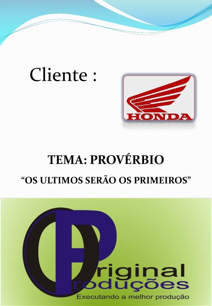 Cliente :