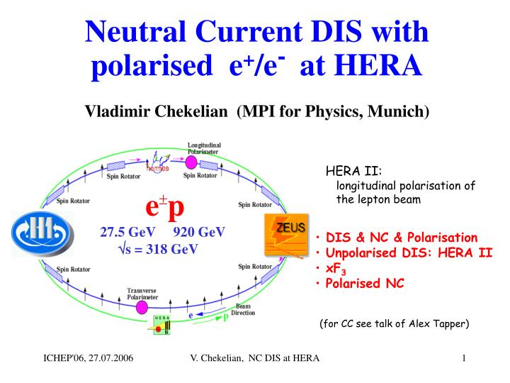 neutral current dis with polarised e e at hera n.