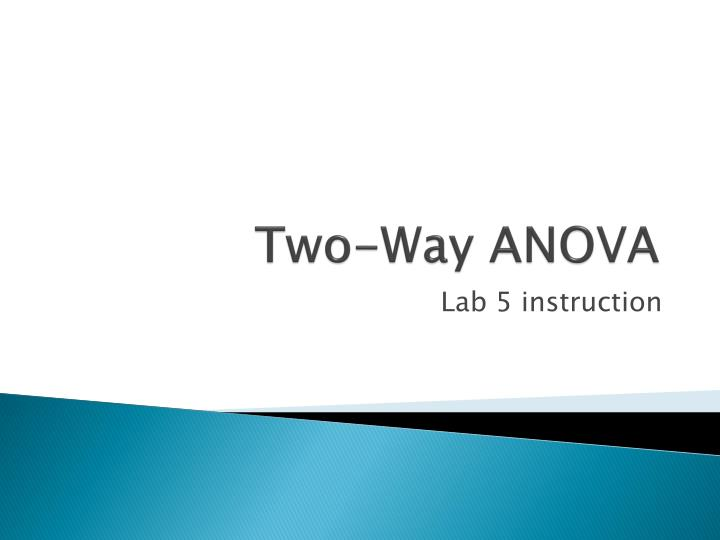 two way anova n.
