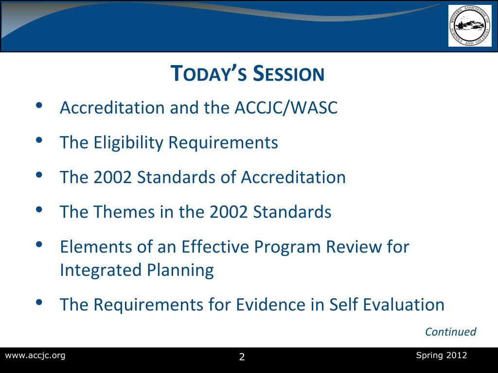 PPT - Preparing for a Comprehensive Accreditation Review
