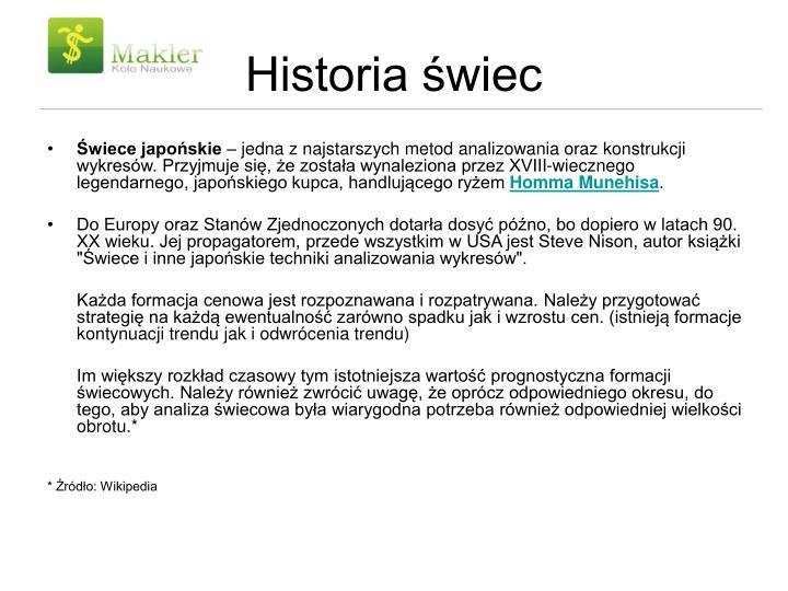 Historia wiec