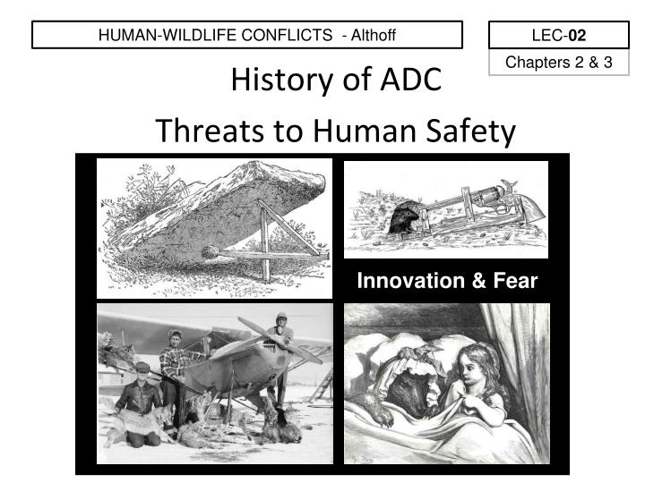 HUMAN-WILDLIFE CONFLICTS  - Althoff